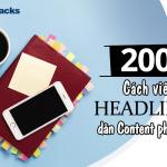 200 cách viết headlines