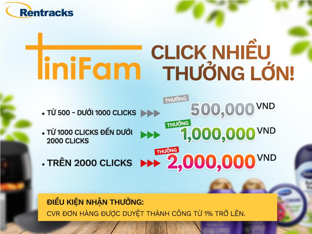 Chương trình Click nhiều thưởng lớn - chiến dịch Tinifam