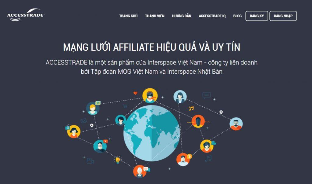 Affiliate Network uy tín ở Việt Nam: Accesstrade