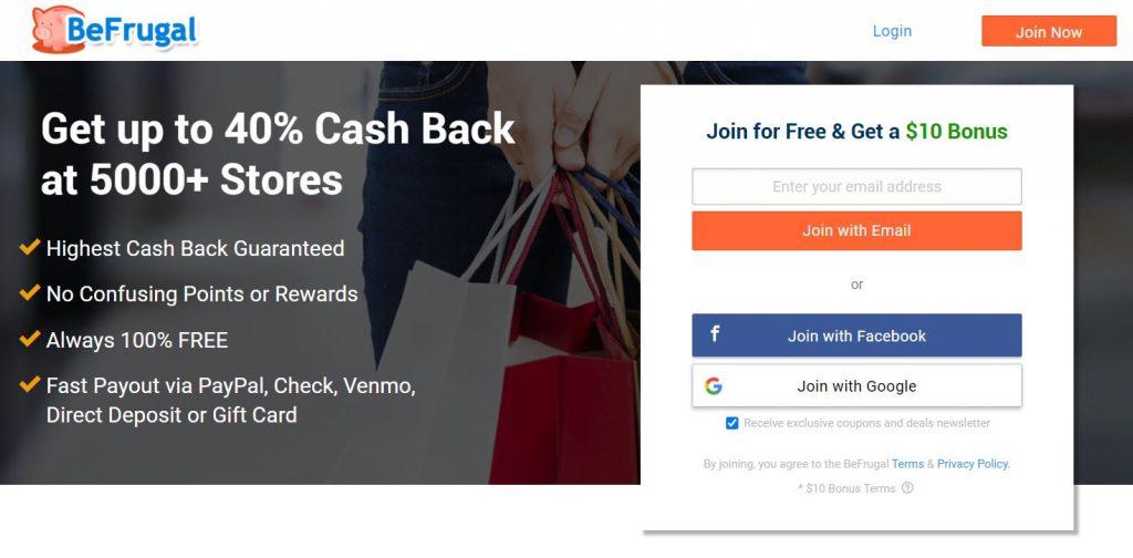mô hình Affiliate Marketing: website cashback